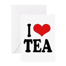 I Love Tea Greeting Card