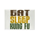Eat Sleep Kung Fu Rectangle Magnet