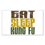 Eat Sleep Kung Fu Rectangle Sticker