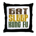 Eat Sleep Kung Fu Throw Pillow