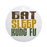 Eat Sleep Kung Fu Ornament (Round)