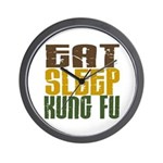 Eat Sleep Kung Fu Wall Clock