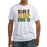 Eat Sleep Kung Fu Fitted T-Shirt