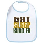 Eat Sleep Kung Fu Bib
