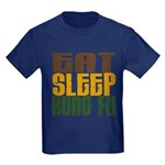Eat Sleep Kung Fu Kids Dark T-Shirt