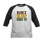 Eat Sleep Kung Fu Kids Baseball Jersey