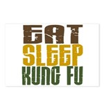 Eat Sleep Kung Fu Postcards (Package of 8)