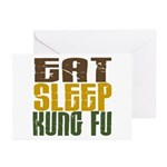 Eat Sleep Kung Fu Greeting Cards (Pk of 10)