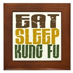 Eat Sleep Kung Fu Framed Tile