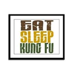 Eat Sleep Kung Fu Framed Panel Print