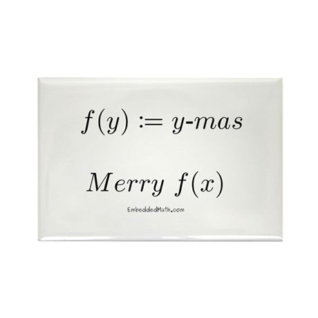 Merry f(x)-mas - Rectangle Magnet (100 pack)