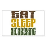 Eat Sleep Kickboxing Rectangle Sticker
