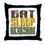 Eat Sleep Kickboxing Throw Pillow