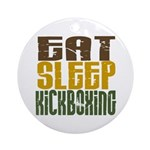 Eat Sleep Kickboxing Ornament (Round)