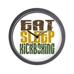 Eat Sleep Kickboxing Wall Clock