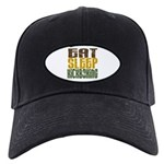 Eat Sleep Kickboxing Black Cap
