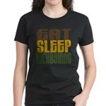 Eat Sleep Kickboxing Women's Dark T-Shirt