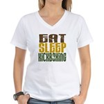Eat Sleep Kickboxing Women's V-Neck T-Shirt