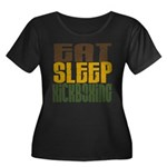 Eat Sleep Kickboxing Women's Plus Size Scoop Neck