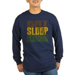 Eat Sleep Kickboxing Long Sleeve Dark T-Shirt