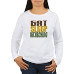 Eat Sleep Kickboxing Women's Long Sleeve T-Shirt