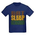 Eat Sleep Kickboxing Kids Dark T-Shirt