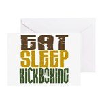 Eat Sleep Kickboxing Greeting Card