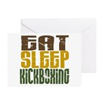 Eat Sleep Kickboxing Greeting Cards (Pk of 10)