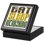 Eat Sleep Kickboxing Keepsake Box