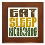 Eat Sleep Kickboxing Framed Tile