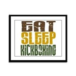 Eat Sleep Kickboxing Framed Panel Print