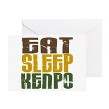Eat Sleep Kenpo Greeting Card