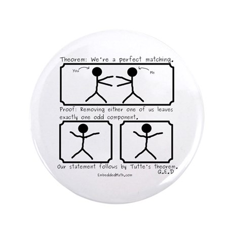 "Perfect Matching - 3.5"" Button"