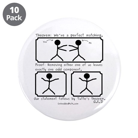 "Perfect Matching - 3.5"" Button (10 pack)"