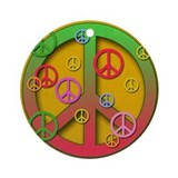 Peace Signs Holiday Ornament Christmas Ornament