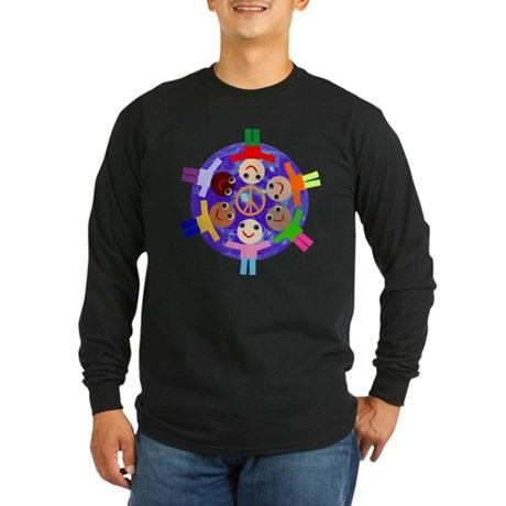 World Peace Long Sleeve Dark T-Shirt