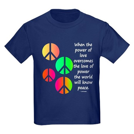 Peace and Love Kids Dark T-Shirt