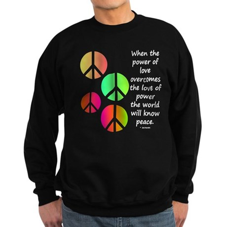 Peace and Love Sweatshirt (dark)