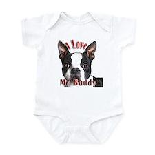 Boston Terrier Buddy Infant Bodysuit
