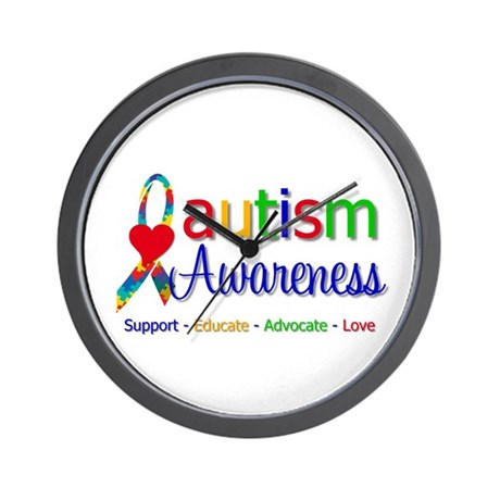 Autism Awareness Wall Clock