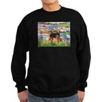 Lilies#2 - Airedale #6 Sweatshirt (dark)