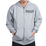 Listen to the fishing voices Zip Hoodie