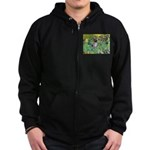 Irises-Am.Hairless T Zip Hoodie (dark)
