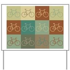 Bicycling Pop Art Yard Sign