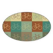 Bicycling Pop Art Oval Decal