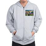 St Francis/ Aus Shep Zip Hoodie