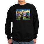 St Francis Chocolate Lab Sweatshirt (dark)