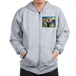 St Francis /Welsh Corgi (p) Zip Hoodie