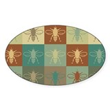 Bees Pop Art Oval Decal