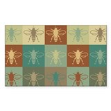 Bees Pop Art Rectangle Sticker 10 pk)